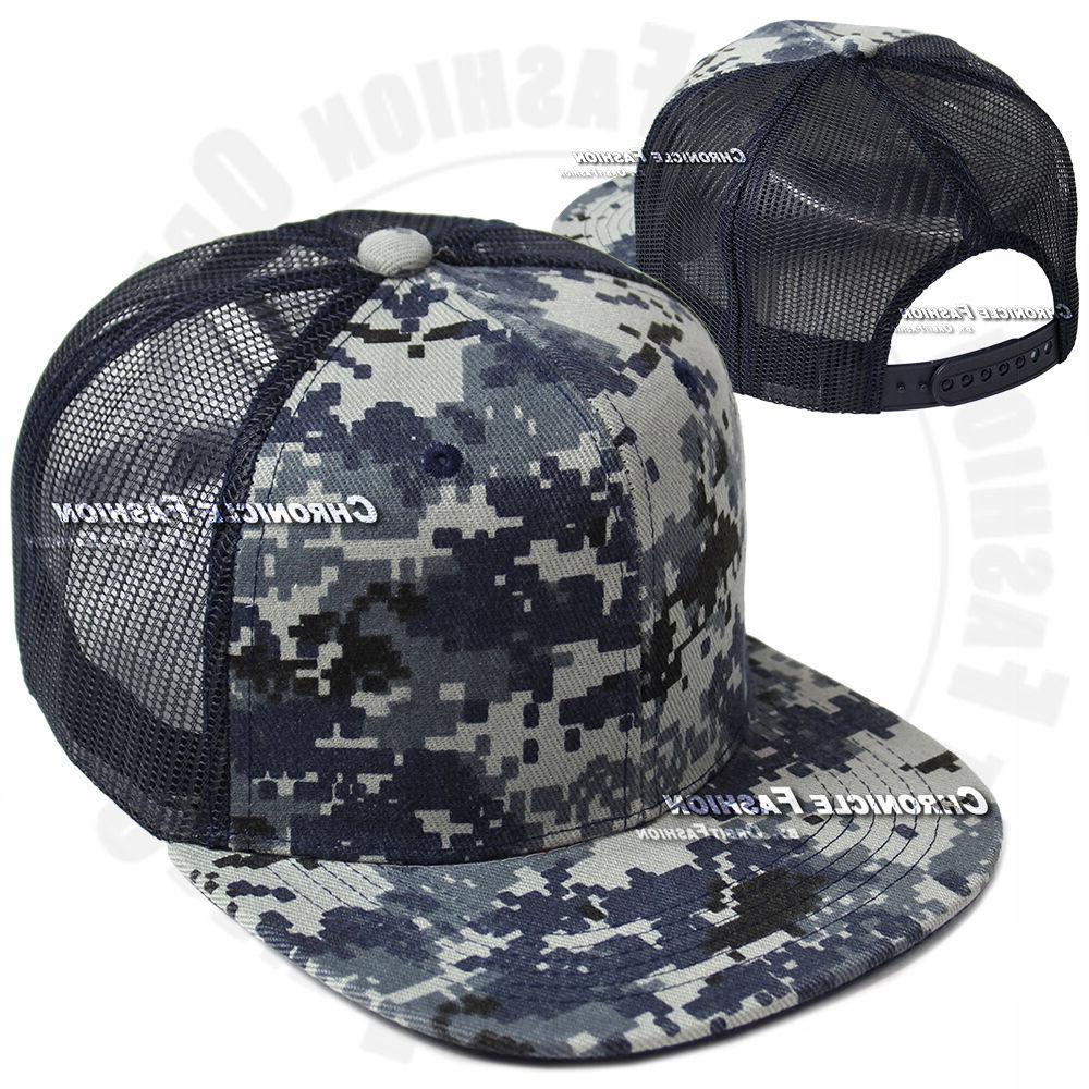 Trucker Mesh Baseball Cap Hop Flat Mens