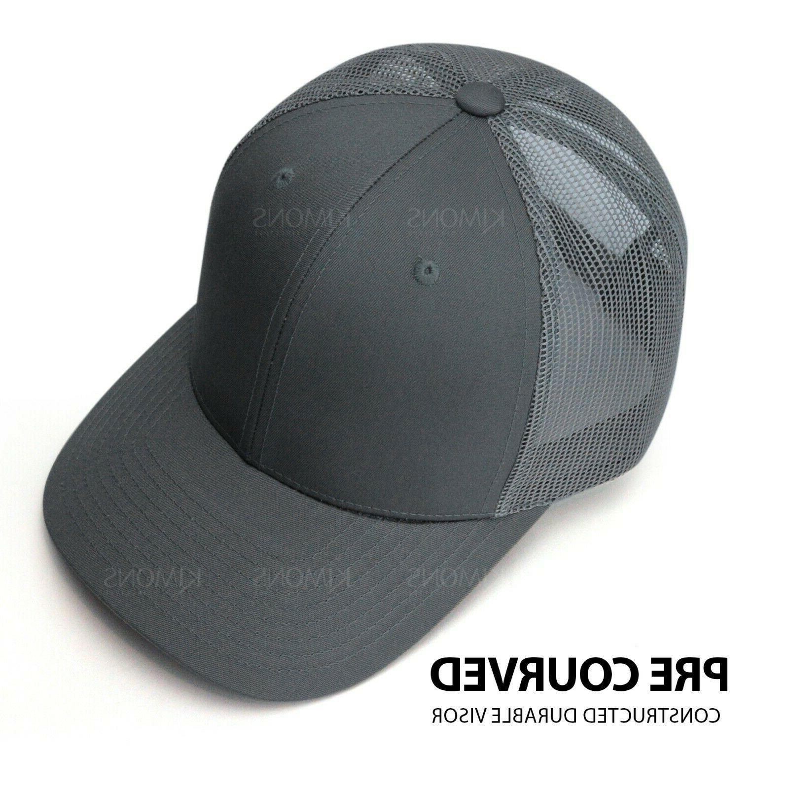 Trucker Hat Mesh Cap Snapback Visor Plain Hip Mens