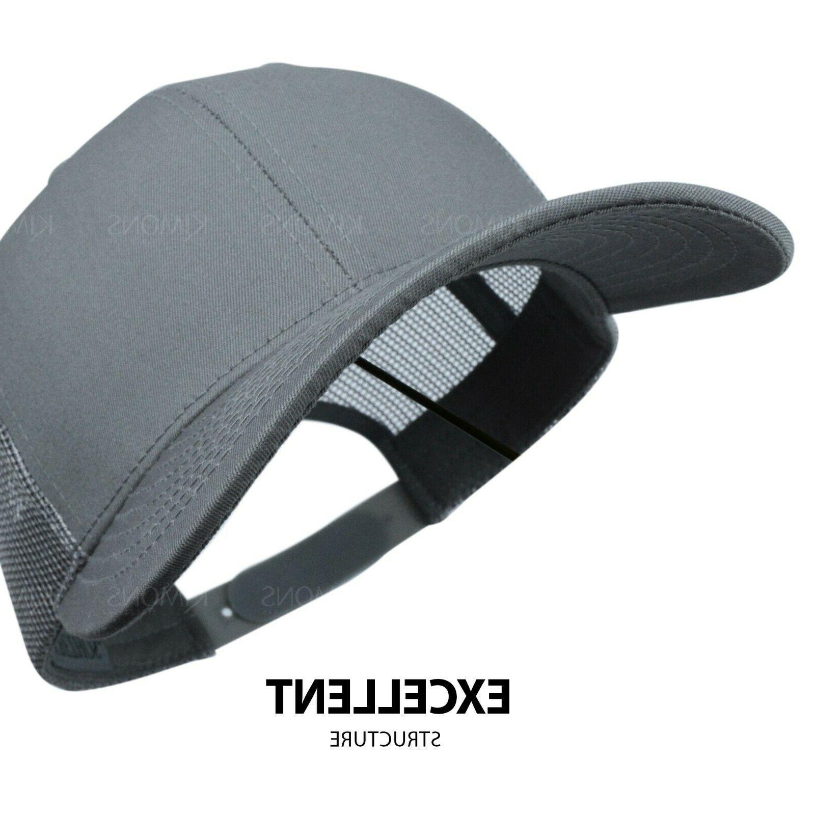 Trucker Hat Cap Visor Plain Mens