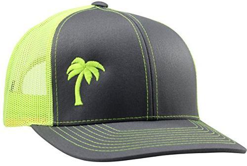 trucker hat palm tree series by graphite