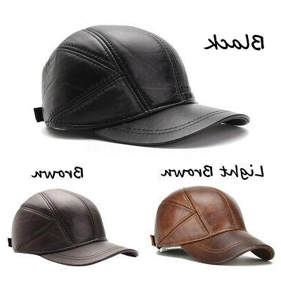 Men's Ear Winter Warm Cowhide Hats