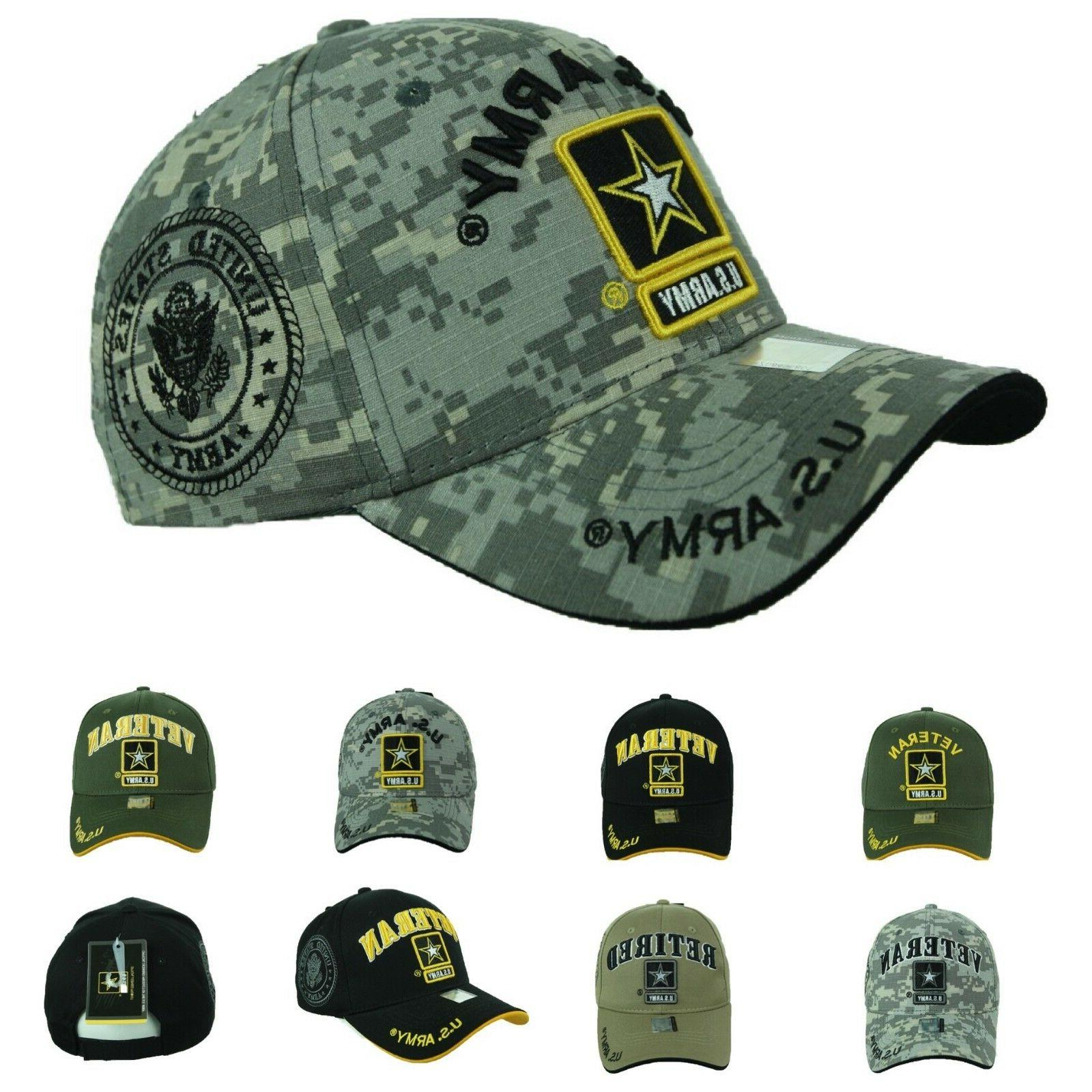 us army baseball cap usa veteran retired