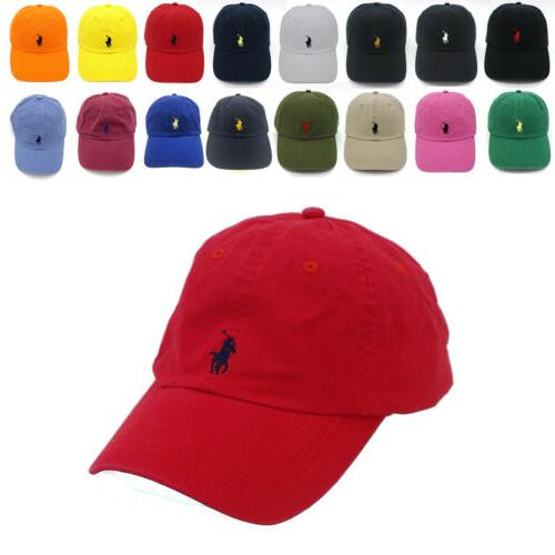 classic unisex polo caps embroidered horse pony