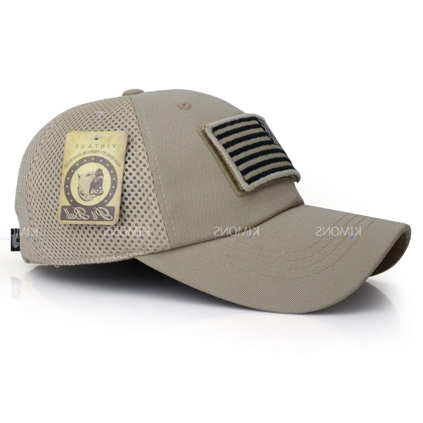 USA hat Detachable Baseball Military Army US Cotton