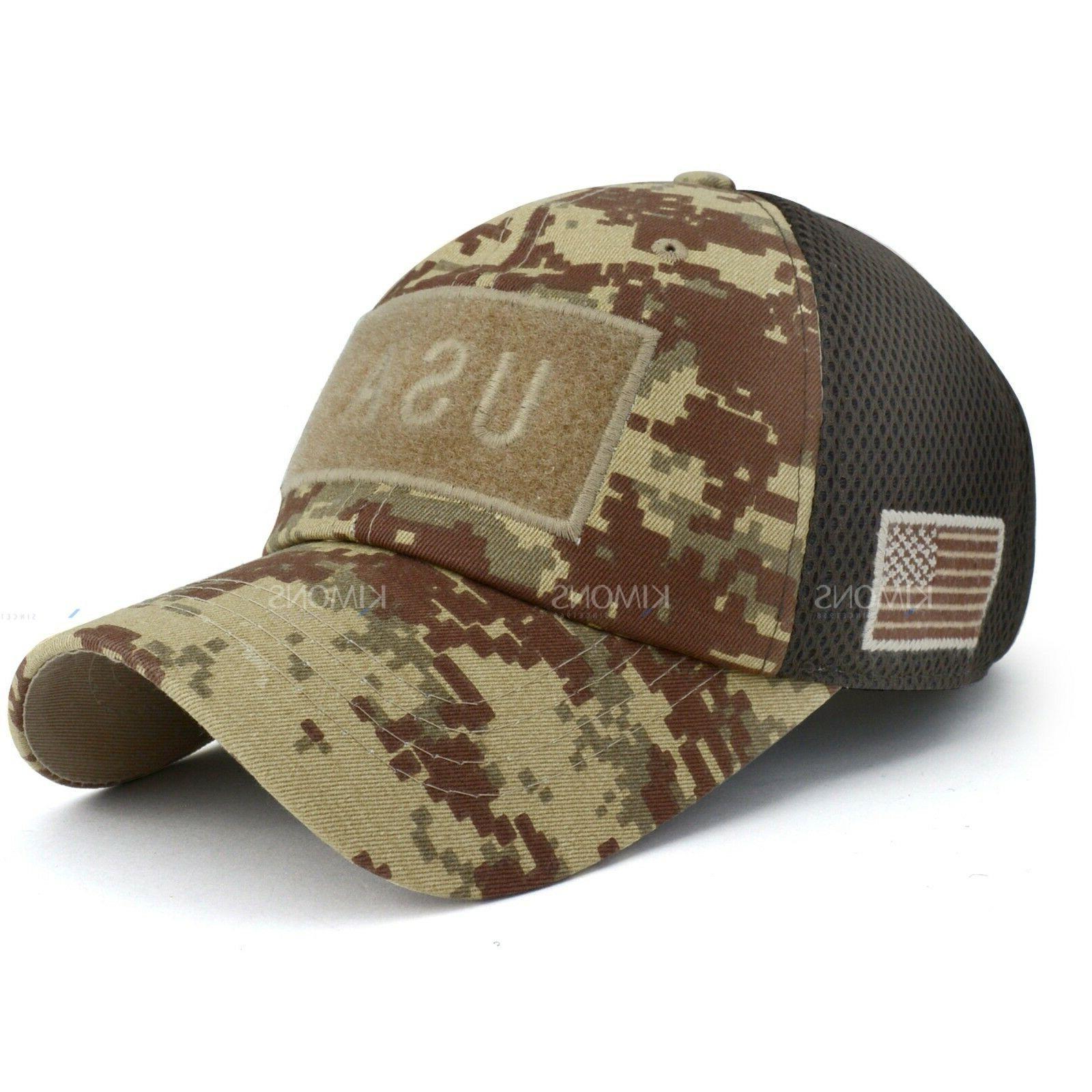 USA American Flag Detachable Military cap Cotton