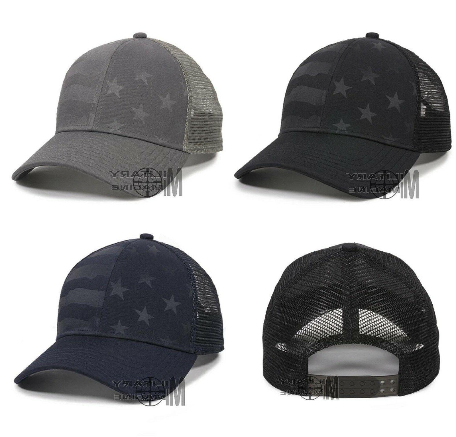 usa flag hat trucker nylon mesh back