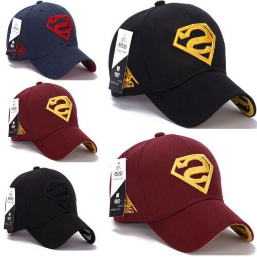USA Kids Boys Superman Hip-hop Dance Casual Hat Baseball Cap