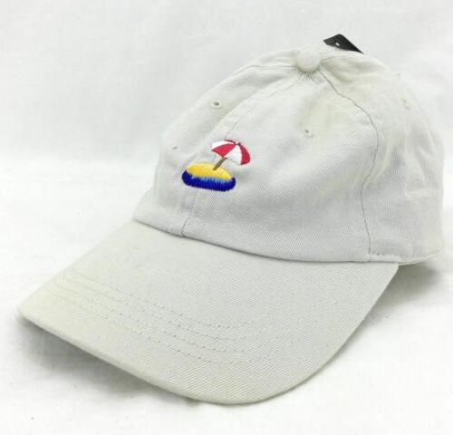 City Hunter USA Men's Baseball Cap Khaki Beach Theme One Siz