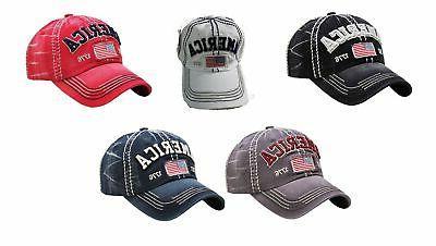 vintage distressed america 1776 hat baseball cap