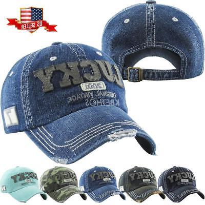vintage distressed hat baseball cap lucky denim