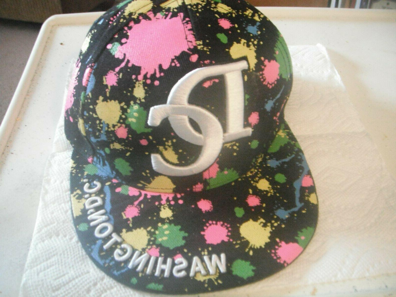 washington dc embroidered baseball cap hat size