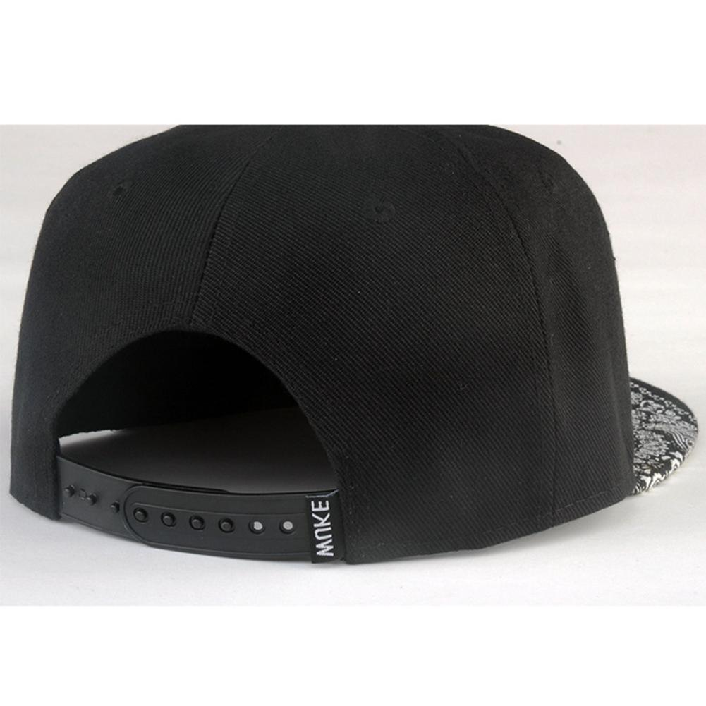 White Pattern Black <font><b>Hat</b></font> New Cap Hip Hop