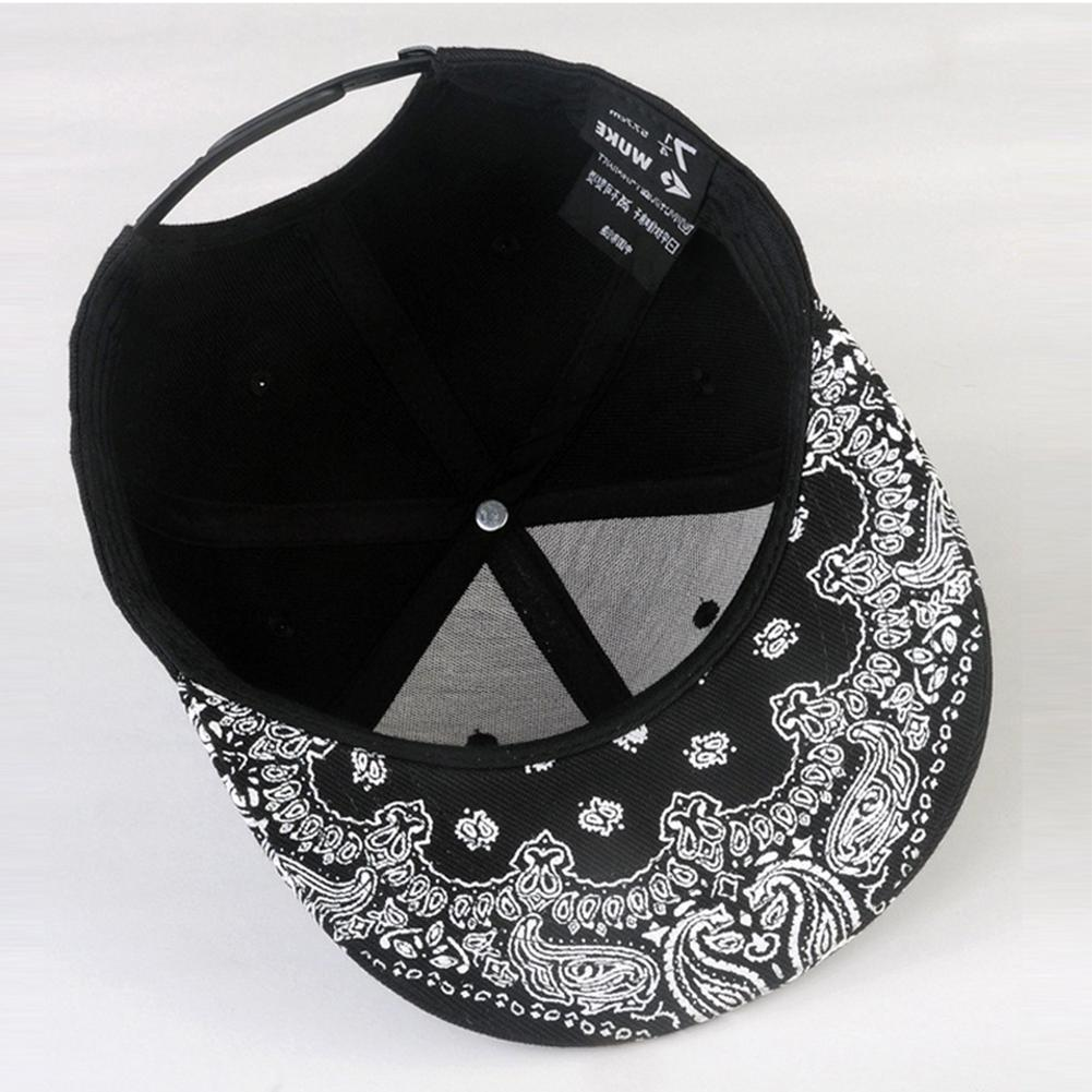 White Pattern Black <font><b>Hat</b></font> New Man <font><b>Baseball</b></font> Cap <font><b>Hat</b></font> Hip Snap Caps
