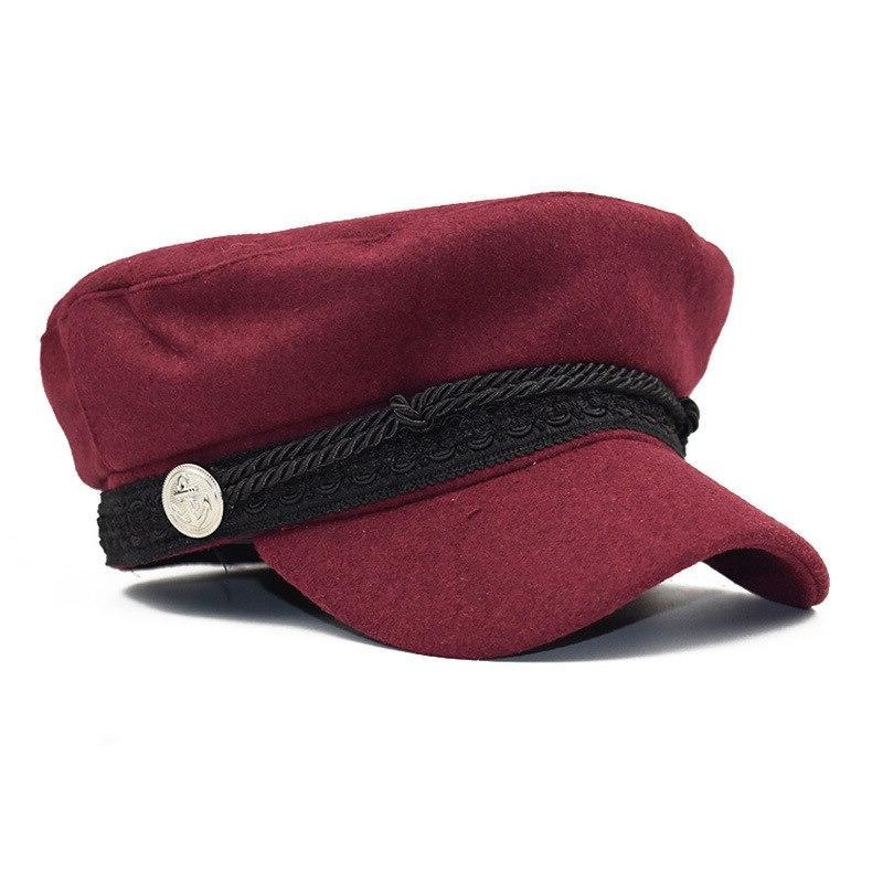 Winter <font><b>Cap</b></font> Women French Boy Hats Womens Black Hat Casquette