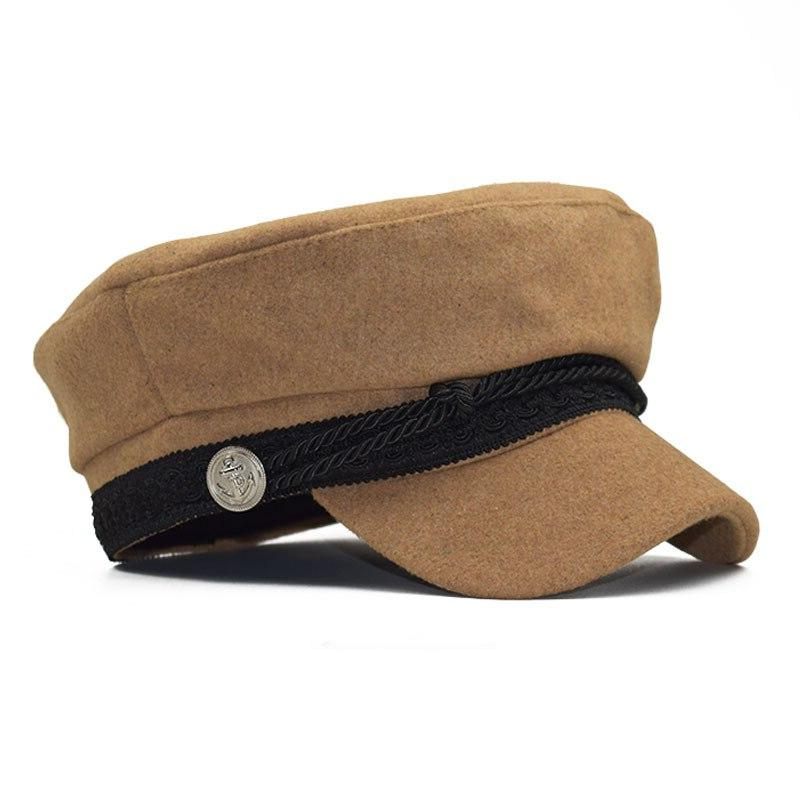 Winter French Style Boy Hat <font><b>Cap</b></font> Hats <font><b>Baseball</b></font> Hats Black Hat Casquette