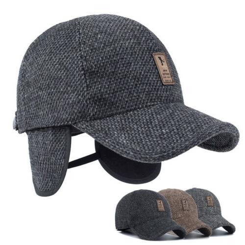 winter mens outdoor baseball cap warm thick