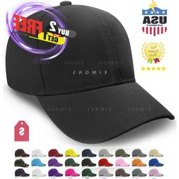 Plain Baseball Cap Solid Color Blank Curved Visor Hat Ball A
