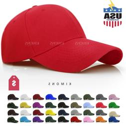 ce3fa2fddbf Loop Plain Baseball Cap Solid Color Blank Curved Visor Hat A