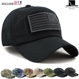The Hat Depot Low Profile Tactical Operator with USA Flag Pa