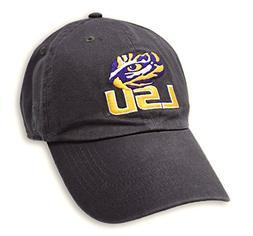Elite Fan Shop LSU Tigers Hat Icon Charcoal - Adjustable - C
