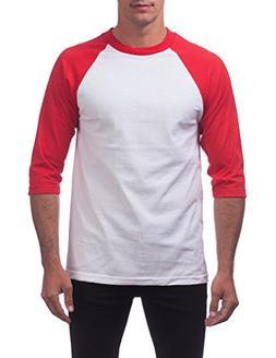 men s 3 4 sleeve baseball shirt