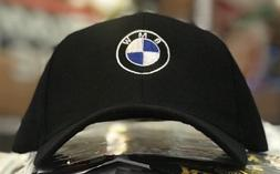 BMW Men's Baseball Cap Roundel Logo Hat 6 Panel  BLACK M Pow