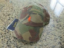 POLO RALPH LAUREN Men's Cotton Camo Baseball Cap, Sport Hat,