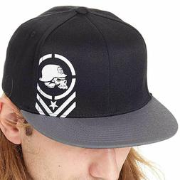 Metal Mulisha Men's Descend Flexfit Hat Black Headwear Baseb