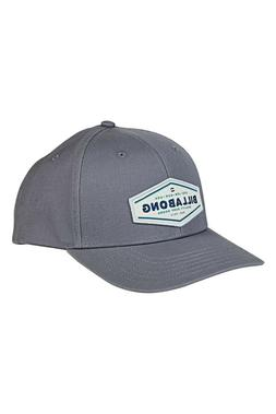Billabong Men's Gray O/S One Size Walled Hat Logo Baseball C