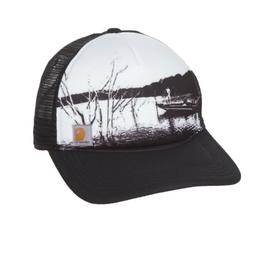 Carhartt Men's Hartley Hat Black White Mesh Fishing Snapback