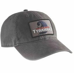 51d059e1a1fed Carhartt Men s Hat Washed Black Gray Strapback USA Baseball