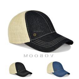 VOBOOM Men's Linen Baseball Cap Trucker Hat Mesh Summer Sun