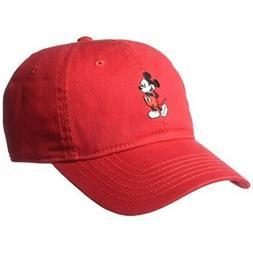 Disney Men's Mickey Washed Twill Baseball Cap, Adjustable, R