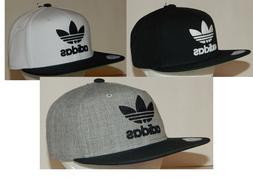 Adidas Men's Originals Trefoil Chain Snapback Hat / Cap Flat