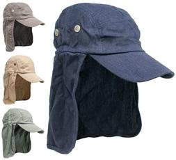 Men's Summer Baseball Cap w/ Neck Ear Flap Cover Sun Protect