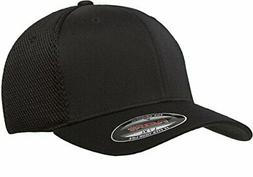 Flexfit Men's Ultrafibre Airmesh Fitted Cap, Black, Extra La