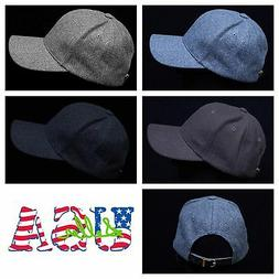 Men's Women 100% Wool Cap Baseball Caps Hats Unisex Casual F