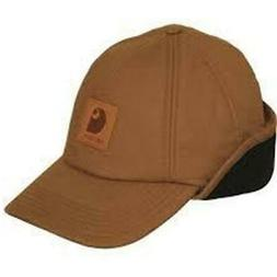 Carhartt Men's Workflex Ear Flap Cap,Carhartt Brown,Medium/L