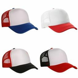 Men Women Caps Summer Hat Baseball Cap Plain Mesh Sport Viso