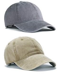 Men Women Plain Cotton Adjustable Washed Twill Low Profile B