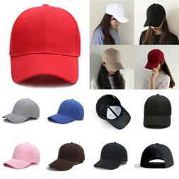 Men Women Plain Curved Sun Visor Baseball Cap Hat Solid Fash