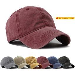 Hh Hofnen Men Women Washed Twill Cotton Baseball Cap Vintage