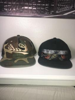 Mens Billabong Black Baseball Hat Cap &Cali Camo Trucker Str