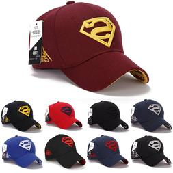 Mens Boys Strapback Baseball Cap Superhero Superman Logo Out