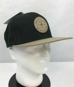 Billabong Mens Baseball Cap Hat Snapback Black Beige One Siz