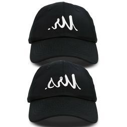 DALIX Mr. and Mrs. Baseball Cap Bride Groom Matching Hats Co