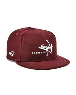 NEW 9FIFTY NEW ERA MAROON RED VIRGIN RECORDS COTTON TWILL SN
