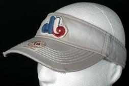 New 47 Brand Grey Montreal Expos MLB Baseball Snapback Visor