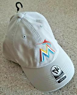 New 47 Brand Miami Marlins Gray Baseball Hat - Size XL