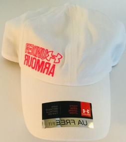 New Under Armour Girl's Youth Free Fit White baseball Hat